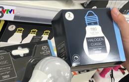 Dừng tiêu thụ bóng đèn sợi đốt trên thị trường EU