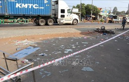 Bình Phước: Xe tải đâm liên hoàn khiến 1 người tử vong