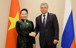 Chủ tịch Quốc hội Nguyễn Thị Kim Ngân hội kiến Chủ tịch Đuma Quốc gia Nga