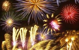 Bắn pháo hoa dịp Giỗ tổ Hùng Vương tại Việt Trì
