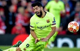 Suarez có thể lỡ hẹn chung kết Cúp Nhà Vua