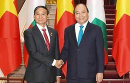 Thủ tướng Nguyễn Xuân Phúc hội kiến Tổng thống Myanmar Uyn Min