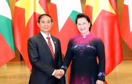 Chủ tịch Quốc hội hội kiến Tổng thống Myanmar