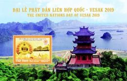 Cận cảnh bộ tem chào mừng Đại lễ Phật đản LHQ Vesak 2019