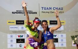 Giải bóng chuyền bãi biển nữ thế giới - Tuần Châu Hạ Long 2019 ngày 12/5: Cặp đôi Rudykh - Dabizha (Nga) giành ngôi vô địch