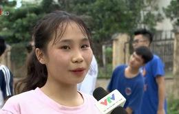 Cô gái duy nhất trong buổi tuyển quân của CLB Bóng rổ Hà Nội Buffaloes