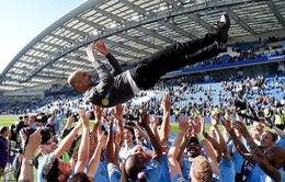 Hình ảnh ấn tượng trong ngày Man City đăng quang Ngoại hạng Anh mùa giải 2018/ 2019