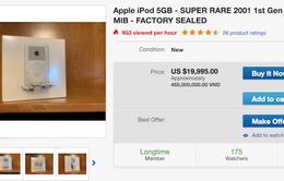 iPod đời đầu được rao bán trên eBay với giá gần 20.000 USD
