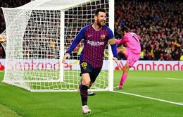 Lập cú đúp bàn thắng vào lưới Liverpool, Messi tạo dấu mốc mới trong màu áo Barcelona