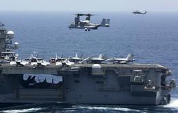 Tàu sân bay Mỹ tập trận tại vùng Vịnh giữa lúc căng thẳng với Iran