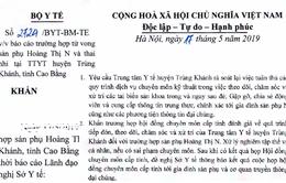 Bộ Y tế yêu cầu báo cáo trường hợp tử vong mẹ và thai nhi tại Cao Bằng
