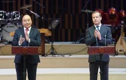 Thủ tướng Nguyễn Xuân Phúc và Thủ tướng Dmitry Medvedev dự Lễ khai mạc Năm chéo Việt - Nga