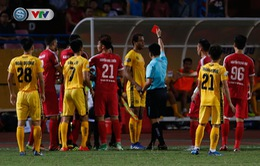 ẢNH: CLB Viettel thắng dễ CLB Hải Phòng trong trận cầu có 2 thẻ đỏ