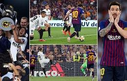 Để thua Valencia, Barcelona mất cúp Nhà vua sau 4 năm thống trị