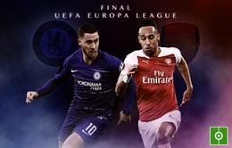 Chelsea - Arsenal (Chung kết UEFA Europa League): 02h00 ngày 30/5 tại Baku