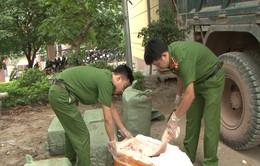 Lạng Sơn: Bắt giữ hơn 400kg nầm lợn thối