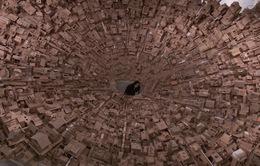 Mô hình thành phố thu nhỏ làm từ bìa cứng của cặp vợ chồng Philippines