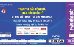 Điều chỉnh số lượng vé bán trận giao hữu giữa U23 Việt Nam - U23 Myanmar