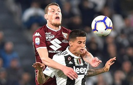 Juventus và Torino chia điểm trong trận đấu kịch tính