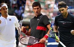 Federer, Nadal và Novak Djokovic lại thống trị Top 3 ATP Ranking
