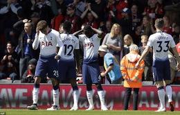 Nhận 2 thẻ đỏ, Tottenham thất bại trên sân Bournemouth