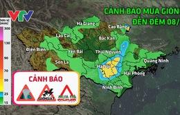 Cảnh báo mưa giông khu vực Bắc Bộ, Bắc Trung Bộ