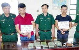 Bộ đội Biên phòng Nam Định bắt 2 đối tượng vận chuyển 10 bánh heroin
