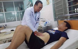 Nuốt ruột bút bi dài 11cm, nam thanh niên nhập viện cấp cứu