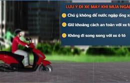 4 lưu ý để lái xe an toàn khi gặp mưa ngập