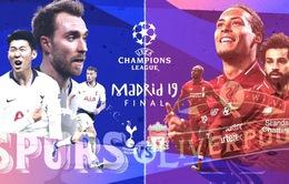 Chung kết UEFA Champions League, Liverpool - Tottenham: Chờ đợi tân vương!