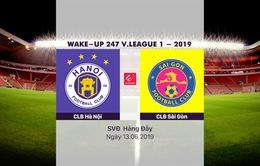 VIDEO Highlights: CLB Hà Nội 2-0 CLB Sài Gòn (Vòng 13 Wake-up 247 V.League 1-2019)