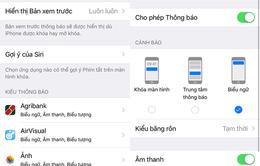 Hướng dẫn cách tắt hiển thị tin nhắn khi khóa màn hình đối với iPhone