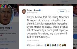 Tổng thống Mỹ chỉ trích tờ New York Times đăng thông tin thiếu cẩn trọng