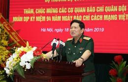 Bộ trưởng Bộ Quốc phòng chúc mừng các cơ quan báo chí quân đội
