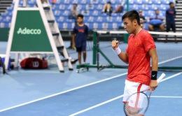 ĐT Việt Nam đặt một tay vào chiếc vé thăng hạng giải quần vợt Davis Cup