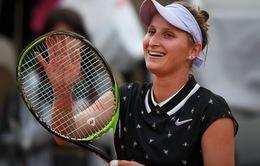 Marketa Vondrousova lần đầu tiên góp mặt tại bán kết Pháp mở rộng