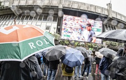 Các trận đấu tứ kết Pháp mở rộng 2019 bị hoãn do thời tiết