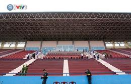 ẢNH: Sân vận động Việt Trì sẵn sàng cho trận giao hữu của U23 Việt Nam