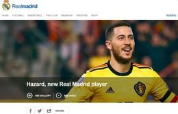 """CHÍNH THỨC: Real Madrid kích nổ """"bom tấn"""" Eden Hazard"""