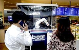Robot pha cà phê tại Seoul, Hàn Quốc
