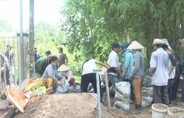 Tổ thiện nguyện xây cầu đường ở thành phố Sa Đéc