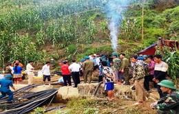 Chưa tìm thấy nạn nhân bị mắc kẹt trong hang đá tại Lào Cai