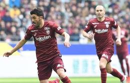 VIDEO: Iniesta và Villa cùng lập cú đúp giúp Vissel Kobe thắng trận tại J.League
