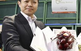 Chùm nho đỏ giá 11.000 USD ở Nhật Bản