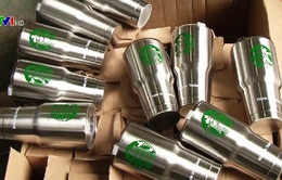 Phá điểm làm hơn 8.000 cốc giữ nhiệt gian lận xuất xứ
