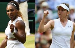 Simona Halep và Serena Williams giành quyền vào chung kết đơn nữ Wimbledon 2019