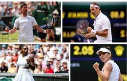 Lịch thi đấu chung kết Wimbledon 2019: Djokovic so tài Federer, Halep đối đầu Serena!