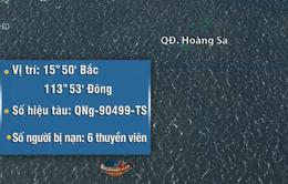 Đã tiếp cận 6 ngư dân trôi dạt ở vùng biển Hoàng Sa