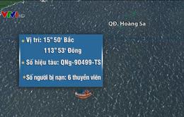 Trưa nay (14/7) sẽ tiếp cận cứu nạn tàu cá ở Hoàng Sa