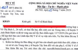 Bộ Y tế yêu cầu báo cáo vụ sản phụ chết sau sinh mổ tại Bình Định
